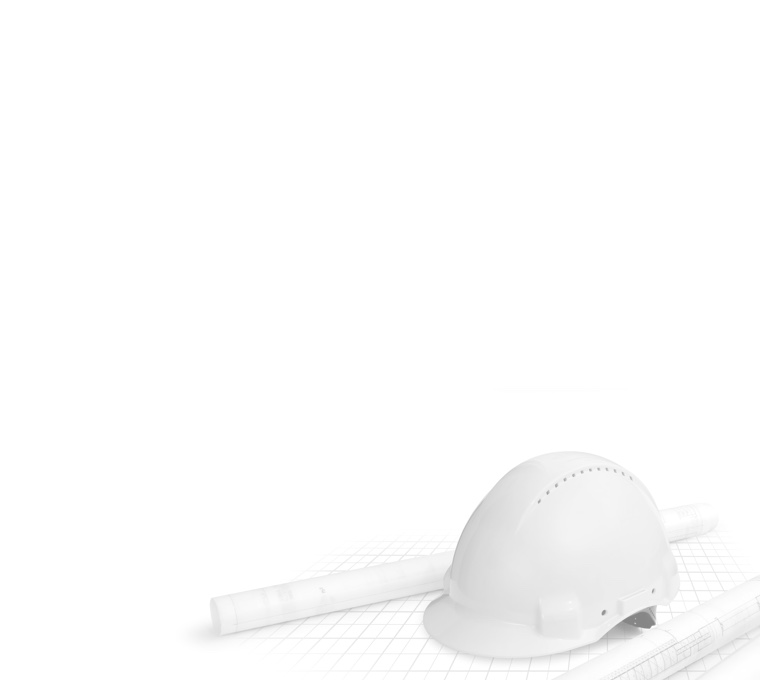 Construction helmet on the drawings